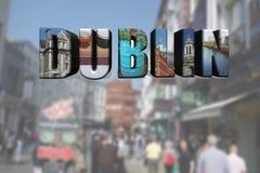 Cena da colagem e da rua de Dublin imagem de stock royalty free