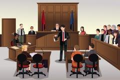 Cena da corte ilustração royalty free