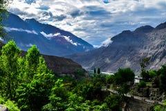 Cena da estação do monte em Gilgit Paquistão imagens de stock royalty free