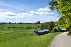 Cena da exploração agrícola de Vermont Fotografia de Stock Royalty Free
