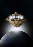 Nascer do sol no espaço Fotos de Stock Royalty Free