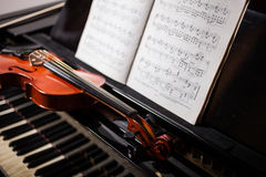 Cena da música clássica Fotografia de Stock Royalty Free