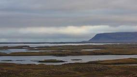 Cena da manhã nos westfjords de Islândia Imagem de Stock Royalty Free