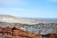 Cena da montanha de Colorado Imagem de Stock