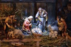 Cena da natividade Imagens de Stock