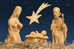 Cena da natividade com a estrela de Bethlehem Foto de Stock Royalty Free