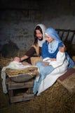 Cena da natividade de Joseph e de Mary Fotos de Stock