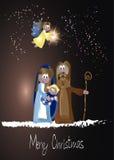 Cena da natividade do Natal Fotografia de Stock