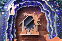 Cena da natividade do Natal Foto de Stock