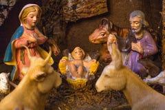 Cena da natividade do Natal Imagem de Stock Royalty Free