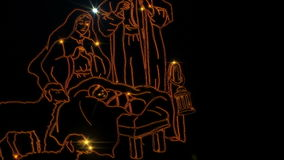 Cena da natividade do Natal ilustração stock