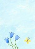Cena da natureza com flores azuis Fotos de Stock Royalty Free