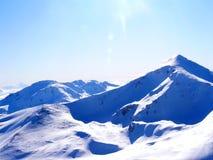 Cena da neve do inverno Fotografia de Stock
