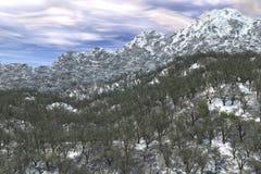Cena da neve do inverno Imagens de Stock