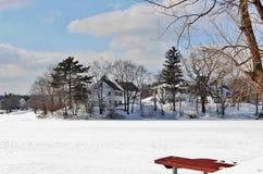 Cena da neve do inverno Fotografia de Stock Royalty Free