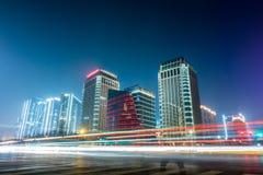 Cena da noite da cidade de Zhengzhou fotografia de stock royalty free