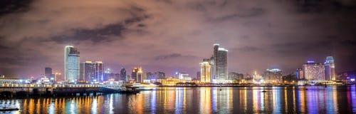 Cena da noite da cidade de Xiamen Fotos de Stock