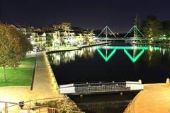 Cena da noite da cidade do leste de Perth Foto de Stock
