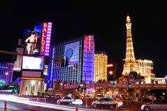 Cena da noite da rua da tira, Las Vegas Fotografia de Stock Royalty Free