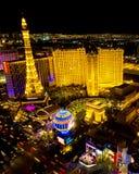 Cena da noite da tira de Las Vegas Foto de Stock Royalty Free