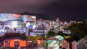 Cena da noite de Busan, Coreia do Sul foto de stock