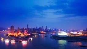 Cena da noite de Chongqing fotografia de stock