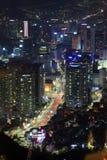 Cena da noite de Coreia Imagem de Stock Royalty Free