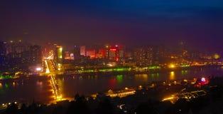 Cena da noite de Lanzhou Foto de Stock