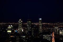 Cena da noite de Montreal Fotografia de Stock