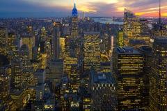 Cena da noite de New York Imagens de Stock