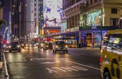 Cena da noite de New York Fotos de Stock