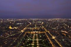 Cena da noite de Paris fotos de stock royalty free
