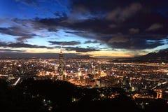Cena da noite de Taipei Imagens de Stock Royalty Free