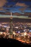 Cena da noite de Taipei Fotos de Stock Royalty Free