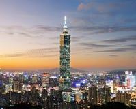 Cena da noite de Taipei Foto de Stock Royalty Free