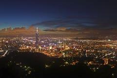 Cena da noite de Taipei Foto de Stock