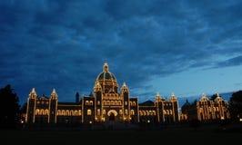 Cena da noite do edifício do parlamento Imagem de Stock