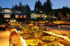 Cena da noite do jardim Imagem de Stock Royalty Free