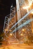 Cena da noite em Hong Kong Imagem de Stock Royalty Free