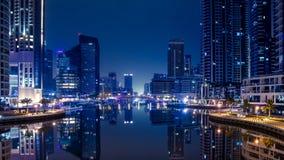 Cena da noite em Marina Dubai imagem de stock