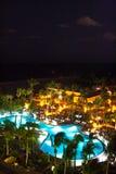 Cena da noite em um recurso no Fort Lauderdale, Miami Fotografia de Stock Royalty Free