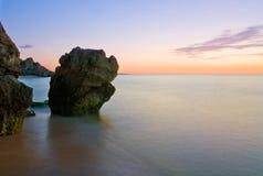 Cena da noite no mar Imagem de Stock Royalty Free