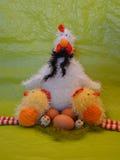 Cena da Páscoa com galinha Imagens de Stock Royalty Free