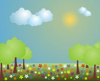 Cena da paisagem da mola Ilustração Royalty Free