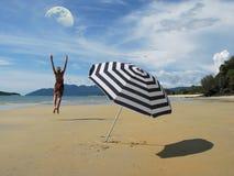 Cena da praia Foto de Stock