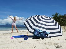 Cena da praia Fotografia de Stock