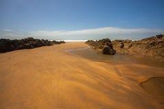 Cena da praia de Bude Fotografia de Stock