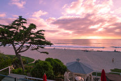 Cena da praia de Califórnia Fotos de Stock Royalty Free