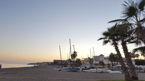Cena da praia de Costa del Sol Foto de Stock