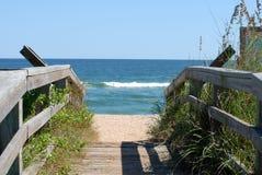 Cena da praia de Florida Foto de Stock